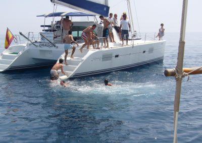 P1000322 Paseo en barco y baño en el mar en Benalmádena, Málaga