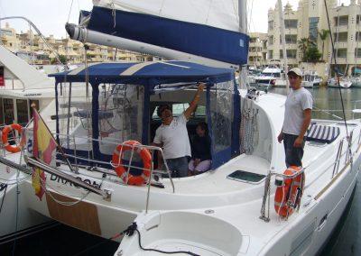 P1000449 Paseo en barco en Málaga Catamarán Dragón de oro