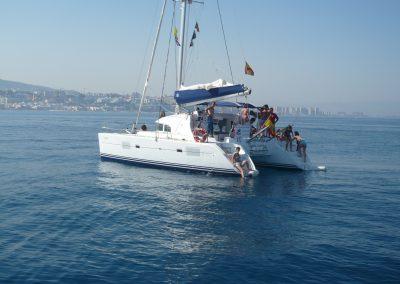 P1000856 Paseo en barco en Málaga Catamarán Dragón de oro