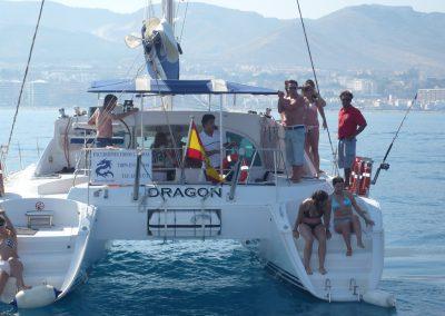 P1000857Paseo en barco en Málaga Catamarán Dragón de oro