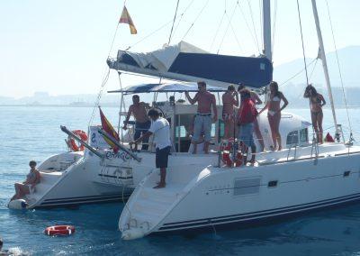 P1000858 Paseo en barco en Málaga Catamarán Dragón de oro