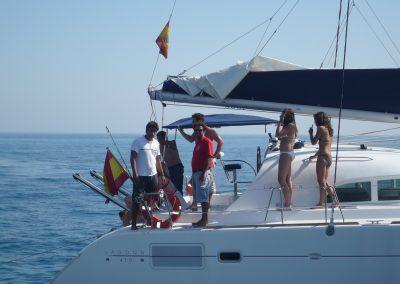 P1000859 Paseo en barco en Málaga Catamarán Dragón de oro