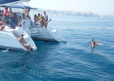 P1000863 Paseo en barco en Málaga Catamarán Dragón de oro