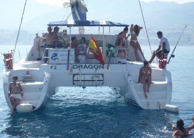P1000864 Paseo en barco en Málaga Catamarán Dragón de oro