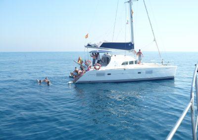 P1000865 Boat trip with your friends in Málaga Catamarán Dragón de Oro