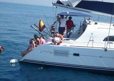 P1000867 Boat trip with your friends in Málaga Catamarán Dragón de Oro
