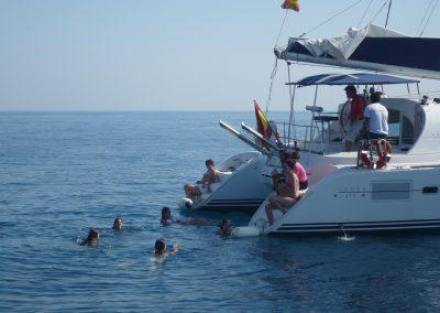 P1000871 Boat trip in Málaga Catamarán Dragón de oro