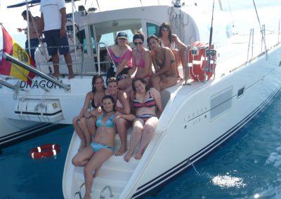 P1000877 Paseo en barco con amigos en Málaga