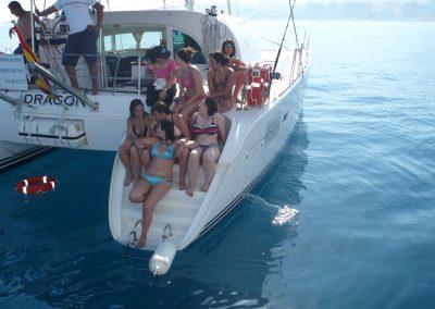 P1000878 Paseo en barco con amigos en Málaga