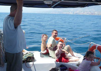 P1010019 Paseo en barco con la familia en Málaga