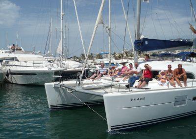 P1010975 Photo boat trip in puerto marina catamarán Dragón de oro