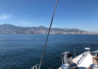 vistas puerto desde catamaran