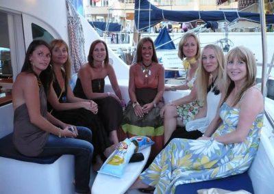 Picture bachelorette party on catamaran boat benalmadena