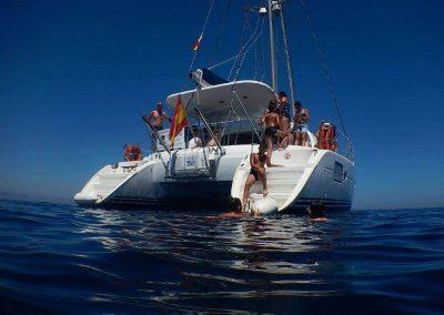 Imagen ver atardecer en barco benalmadena