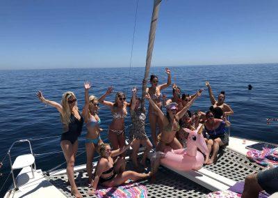 Despedida de soltera en barco en Málaga-min