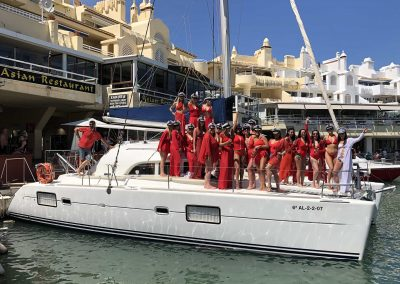 hen/stag parties in catamaran-boat, Benalmádena, Málaga