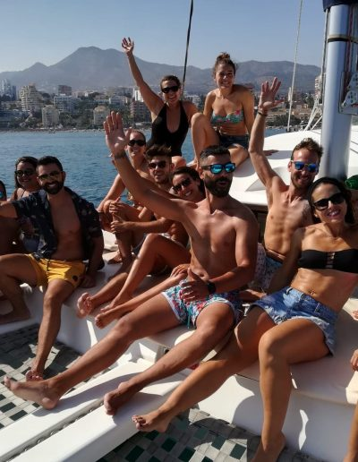 Private party with friends by boat in Benalmádena-Málaga