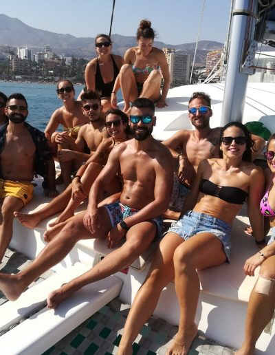 Private party with friends by boat in Málaga