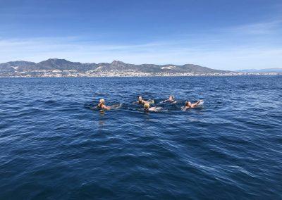 Paseo en barco con baño en aguas cristalinas en Málaga-min