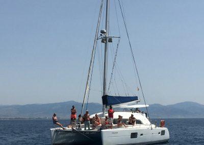 Paseo en barco en Málaga-min