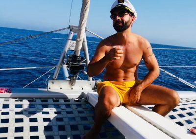 Paseo en catamarán en Málaga-min
